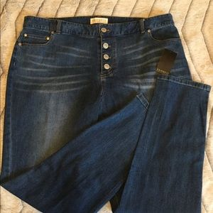 BNWT Eloquii Button Fly High Rise Skinny Jeans